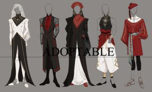 [Closed] Adoptable Outfit #set9 by jenjin-jen