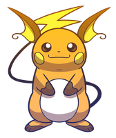 Relaxed Raichu by Red-Flare