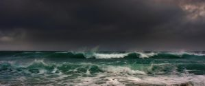 waves against stormy weather by steinliland