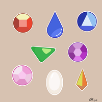 Gem stickers by baconbitsy