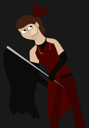 Red Death Colorguard Uniform Design by ElyssaJM