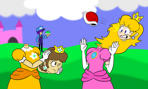 Collab: Peach And Daisy by SpaceDemonFez