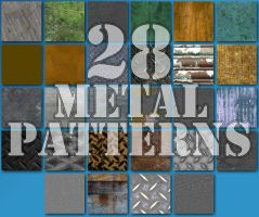 28 Seamless Metal Patterns for Photoshop by xDustyx
