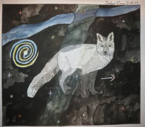 Canis Minor constellation drawing by Justyn16
