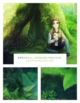 Ethereal Artbook Preview by kawaiihannah