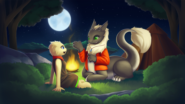 Campfire in the Sky: Commission for Ronixns by streetdragon95