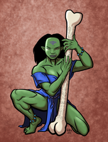 Orc Priestess Colored by MajorKiz