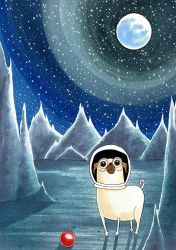 Space Pug by scratchproductions