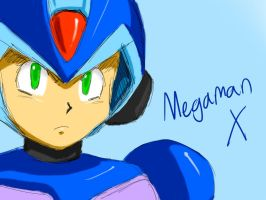 MegamanX doodle by ss2sonic