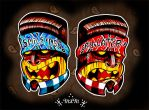 Smile Now Cry Later Tikis by MummysLittleMonster