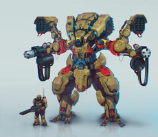 Infantry support mech by inzvy