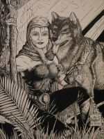 The druid and her wolf