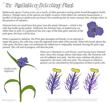 Science Fact Friday: The Radiation-Detecting Plant by Alithographica