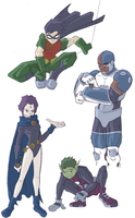 Some of the Titans by chamzi