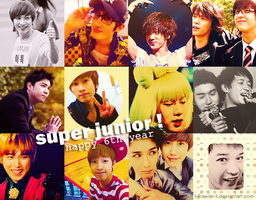 Happy 6th year SUJU by ll-Rawan-ll