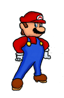 A drawing of Super Mario by Marcolin97
