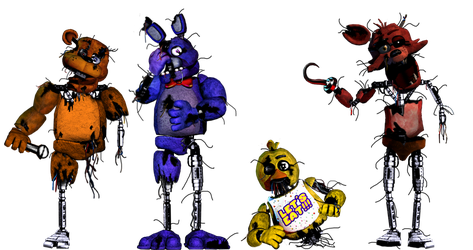 Broken Fnaf 1 by shadowNightmare13
