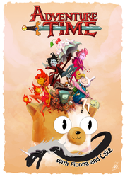 Adventure Time with Fionna and Cake by JohnDevlin