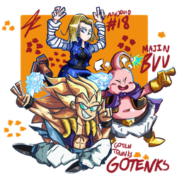 Dragon Ball FighterZ Mains by 4zumarill