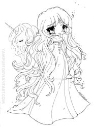 Amalthea Lineart - The Last Unicorn by YamPuff