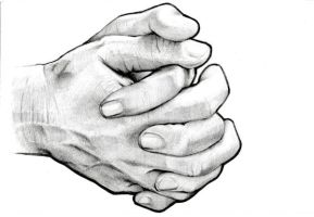 Folded Hands Drawing Scan by Didymus03