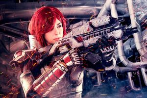 Commader Shepard Cosplay by Anhyra