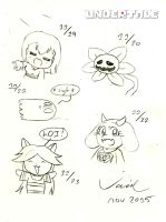 Undertale Doodles by Son-Void