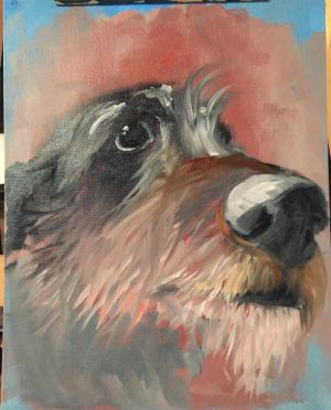 Fergus - quick study in oils by Cwmm