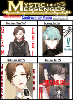 Mystic Messenger Controversy Meme (Filled) by OtakuFangirl1200