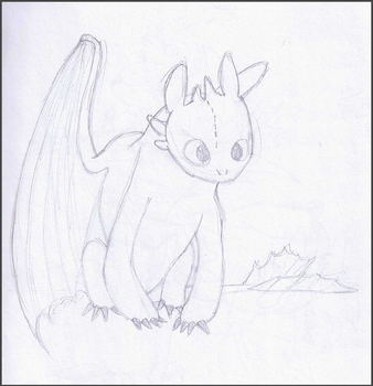 Toothless Sketch by Mirka-Dragon