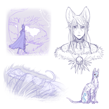 Forests of Eden doodles 2 by Majime
