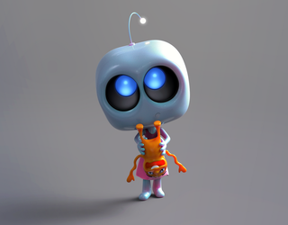 Zbrush Doodle Day 913 - Robot Kid Series 32 by UnexpectedToy