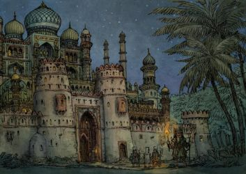 Medieval arabic city - the Palace by Hetman80