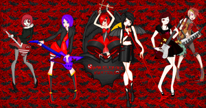 .:COLLAB:DONE:.Sparklepire Hunters Band by doris4u