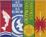 Game of Thrones Bookmarks- Cross Stitch Patterns 2 by black-lupin