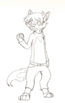 Eurasian Wolf Person WIP by LilyuKitty1-18-21