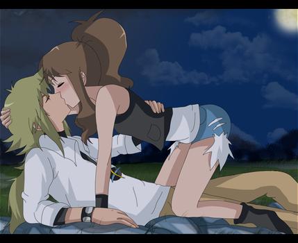 kiss in the night by hikariangelove