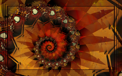 UF Chain Pong 967 Another Autumn fractal by lamblyn