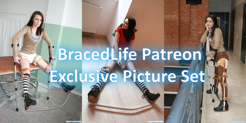 Cheryl in Leg Braces with Spreaded Bar Picture Set by MedicBrace