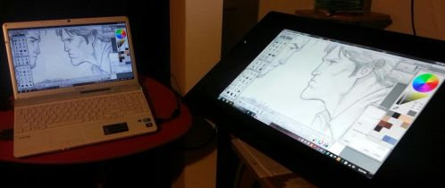 cintiq 24HD temporary set up by Sajad126