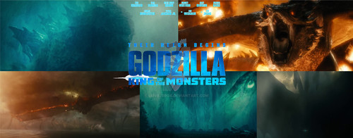 Godzilla King Of The Monsters 2019 Poster by leivbjerga