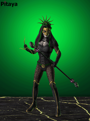 Mkx (Ios) Day Of The Dead Jade by scorpion-mileena