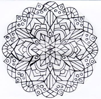 Untitled mandala 4 by Rowbs