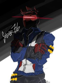 Quick Paints [Soldier 76] by Artistic-Winds