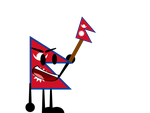 Inanimate Commission Insanity #1 Nepal Flag by noahthemaster