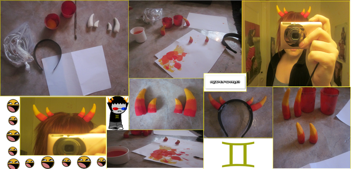 the process of making my Sollux horns by tHeReD-QUEEN