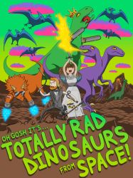 TOTALLT RAD DINOSAURS IN SPACE by Blue-Moon-Rabbit