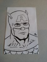 Captain America Sketch by BungZ