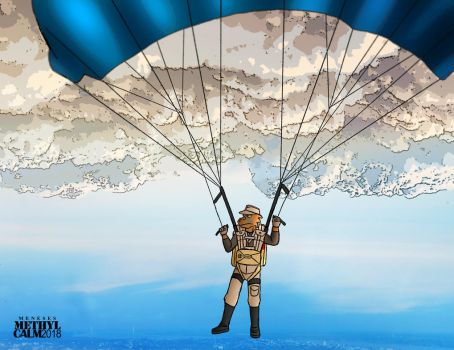 Parachute over the city by MethylCalm