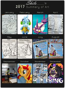 2017 Summary of Art by CindersDesigns